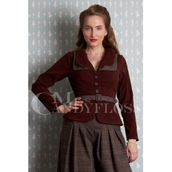 Miss Candyfloss Idalie-Dora Short Cord Blazer