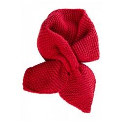 Banned Retro Fru Fru Knitted Scarf Red