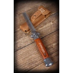 Rumble59 Switchblade-Comb With Leather Case