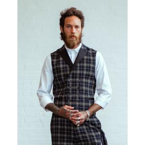 Chet Rock Chuck Tartan Waistcoat