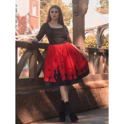 Collectif Amber-Lea Haunted House Swing Dress