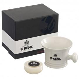 Mug de rasage blanc et savon - Kent